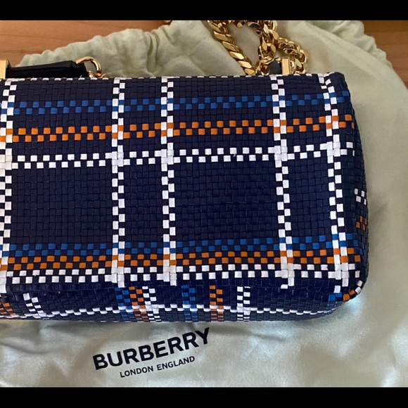 Burberry Small Lola Bag  Blue/White/Orange  NWT